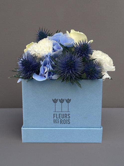 Boîte à Fleurs Bleue