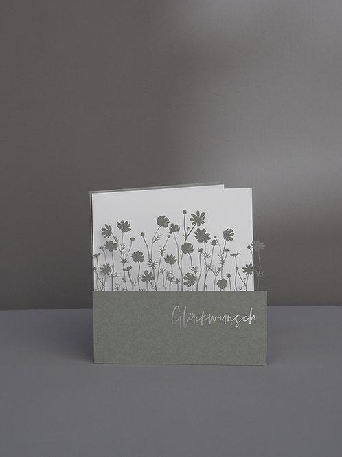 Blumenwiese Glückwunsch