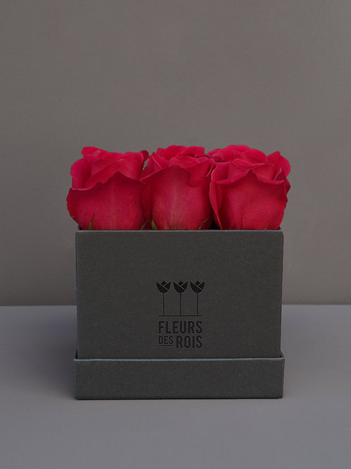Boîte à Fleurs Roses Pink