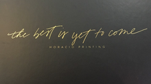 Horacia Printing: The Best is Yet to Come Planner Review