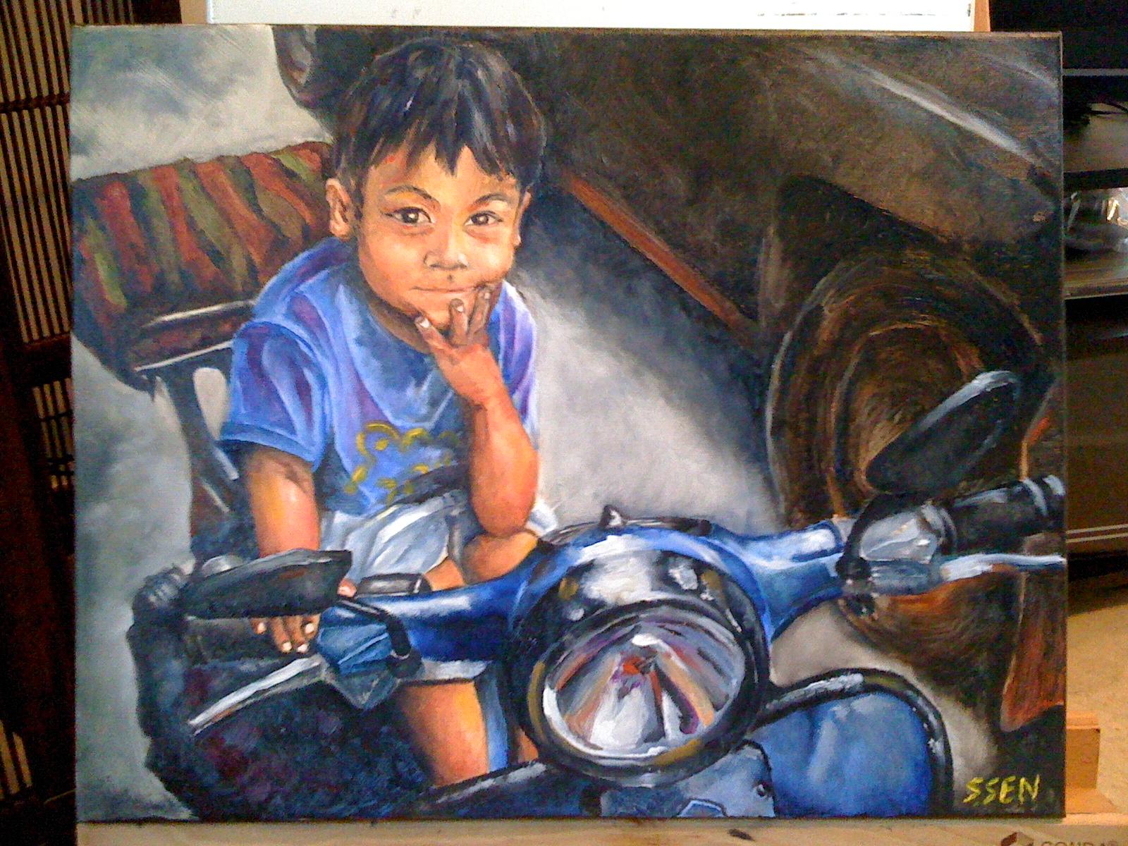 Thai Boy on Scooter