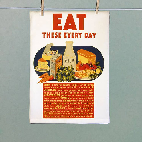 Eat These Every Day! Tea Towel