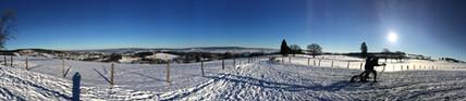 Panorama hivernal.