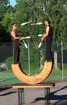Duo de jonglage