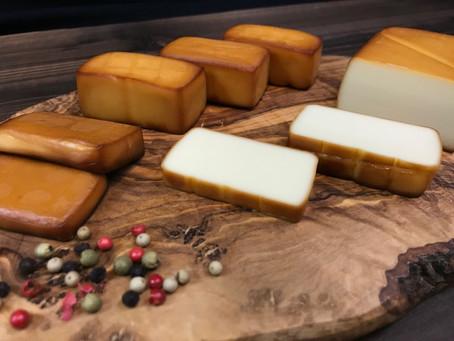 燻製チーズ【燻煙面積の違い編】