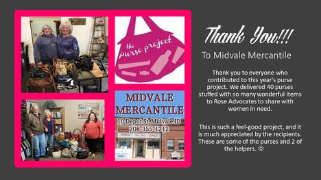 """Midvale Merchantile """"The Purse Project"""" 2021"""