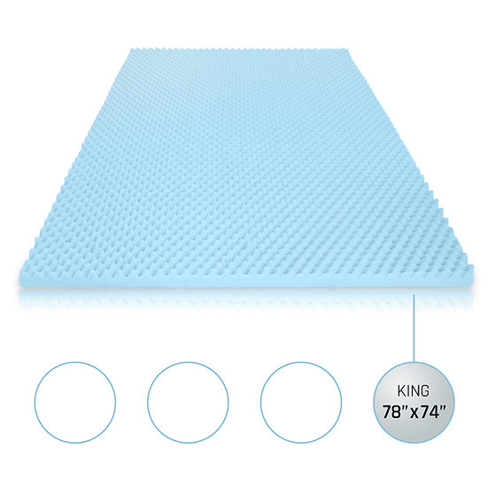 Gel Egg Crate Memory Foam Topper (King)