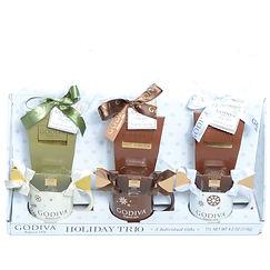 Godiva Holiday Trio Individually Wrapped Chocolate Mug Gift Sets