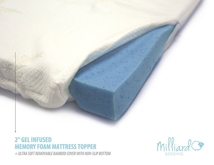 Gel Memory Foam Mattress Topper with Cover (Twin)