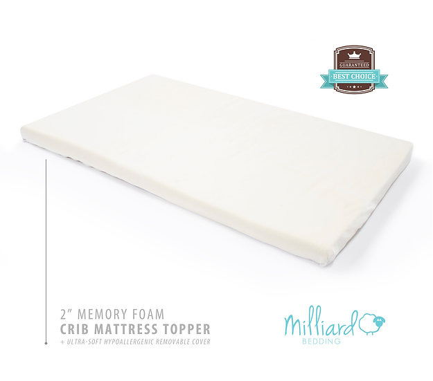 "2"" Memory Foam Crib/Toddler Mattress Topper"