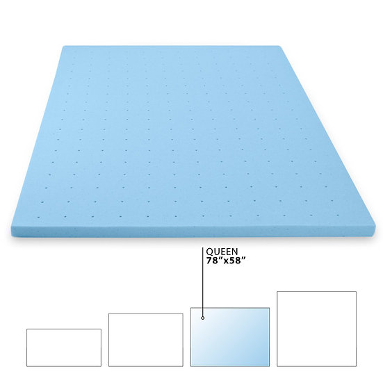 Gel Memory Foam Mattress Topper (Queen)
