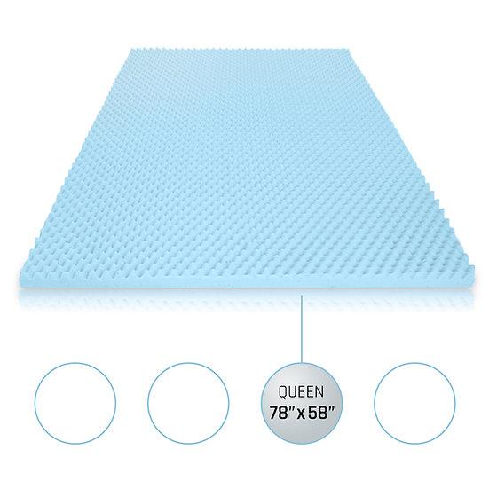 Gel Egg Crate Memory Foam Topper (Queen)