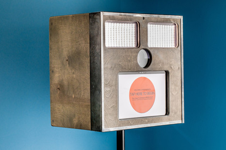 Front of The Chicklet Standalone Photo Booth