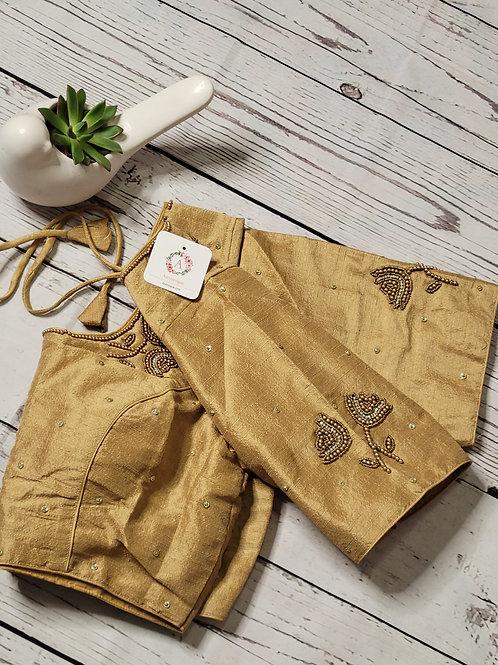 Golden Aari readymade blouse for Indian saree