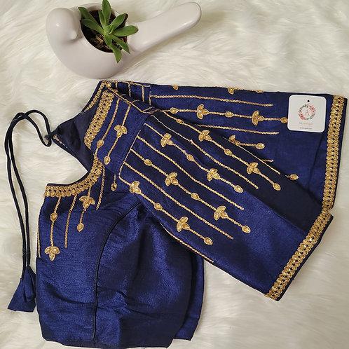 Navy Blue aari readymade blouse for Indian saree