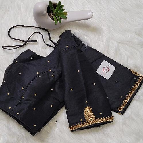 Black aari readymade blouse for Indian saree