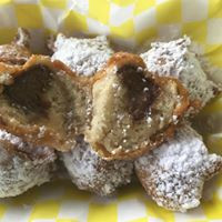 CHOCOLATE FUNNEL CAKE BALLS (WE WERE FEATURED ON THE FOOD NETWORK WITH THIS DESSERT)