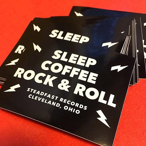 Sleep, Coffee, Rock & Roll vinyl sticker
