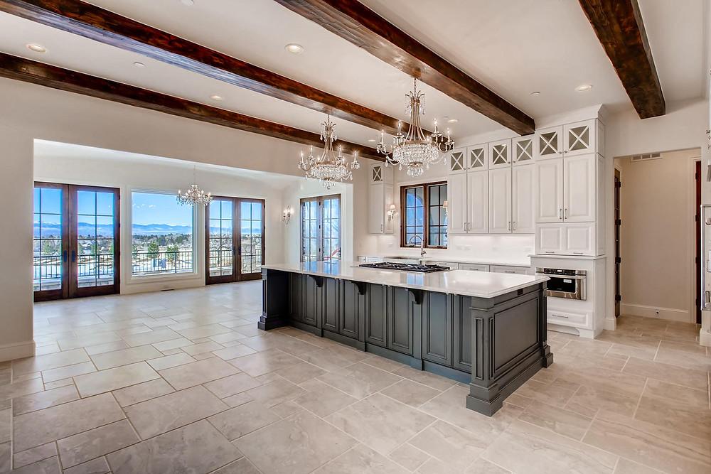 White Open Space Kitchen