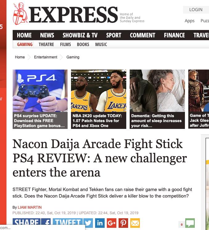 NACON Daija Arcade Stick