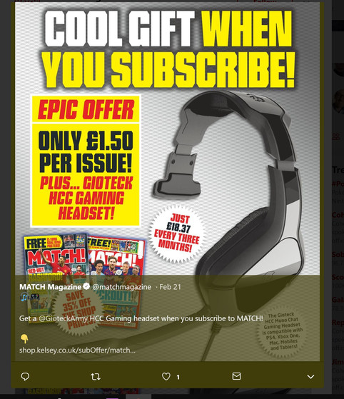 MATCH Mag Subs Offer