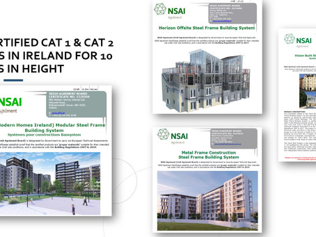 MMC/Offsite Building Systems certified by NSAI Agrément