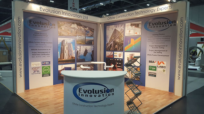 OCT 2016 - Evolusion exhibit services at the Offsite Construction Show, Excel, London on 12th/13th October 2016