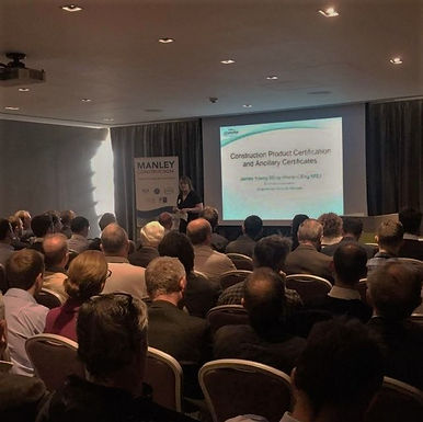 SEPT 2017 - Declan Wallace and James Young, our CEO and Engineering Services Manager, delivered topical presentations at Manley Construction Breakfast Briefing
