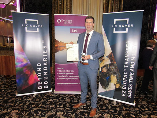 FEB 2019 - Cian O'Mahony, Evolusion Senior Structural Engineer, attains Chartered Engineer status