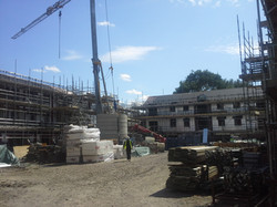 Residential LGS Structures during Construction