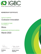 MARCH 2021 - Evolusion welcomed as new member of the Irish Green Building Council (IGBC)
