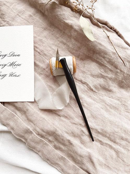 Federhalter Geistreich Kalligrafie Kalligraphie Obliquepen Schrägfederhalter