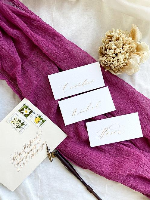 Namenskarten handgeschrieben