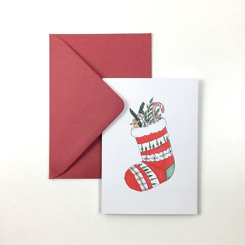 Grusskarte | Weihnachtssocke