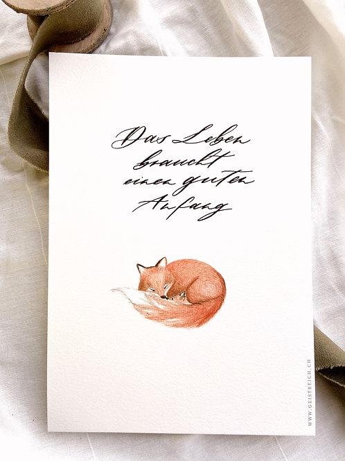 Fox'n'Baby | Print A4