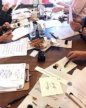 Anfänger Kalligrafie lernen beginner Tinte Feder