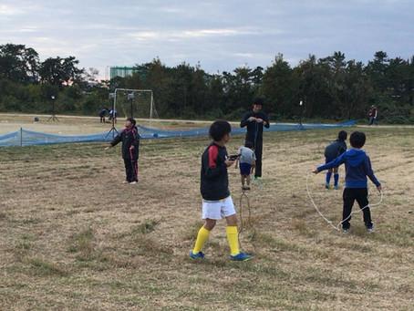 縄跳び練習開始!