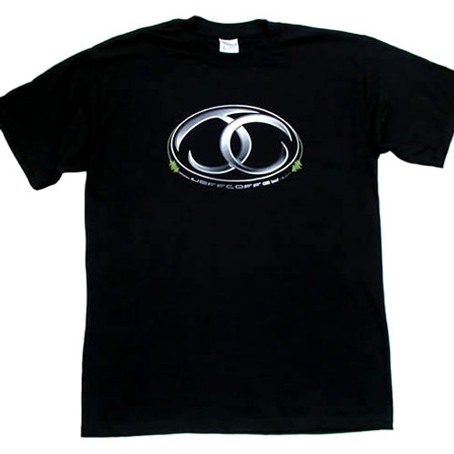 Black T-Shirt - Jeff Coffey Logo