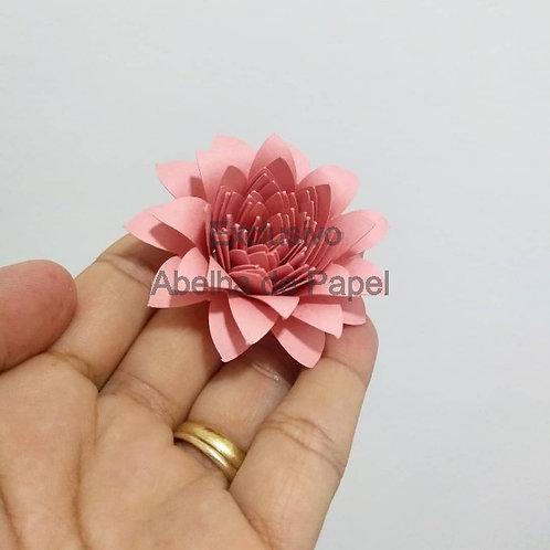 Molde digital Flor Espiral 83
