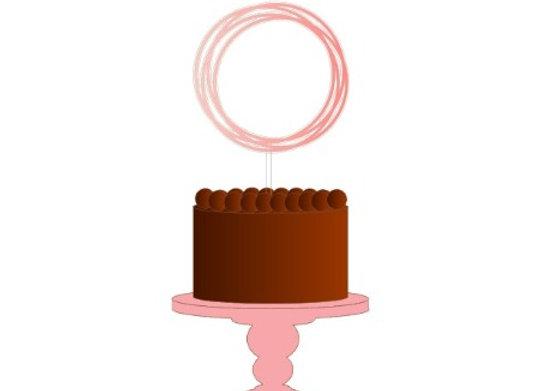 Topo de bolo circular para personalizar