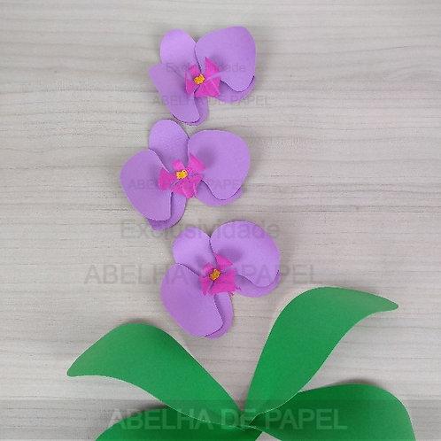 Arquivo de corte Flor 72 e Folhagem / Orquídea