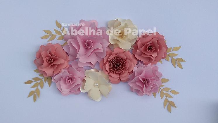 Molde digital Flor 56