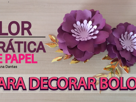 Flor de Papel para decorar bolos I PAP completo flor 36