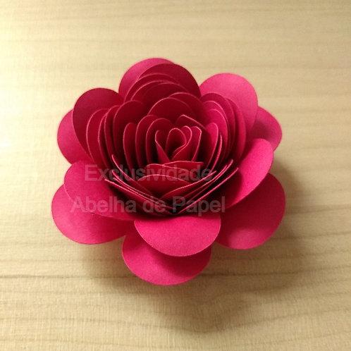 Molde digital Flor Espiral 81