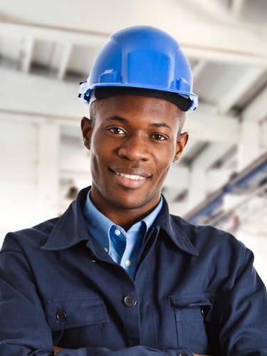 Worker with Blue Helmet