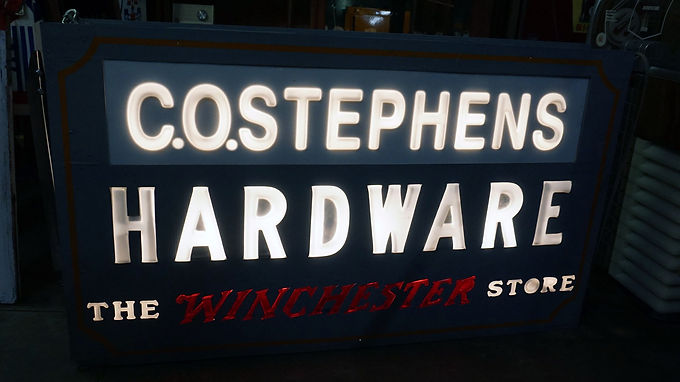 Co Stephens Hardware Double Sided Sign