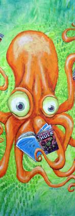 Comic Book Reading Octopus