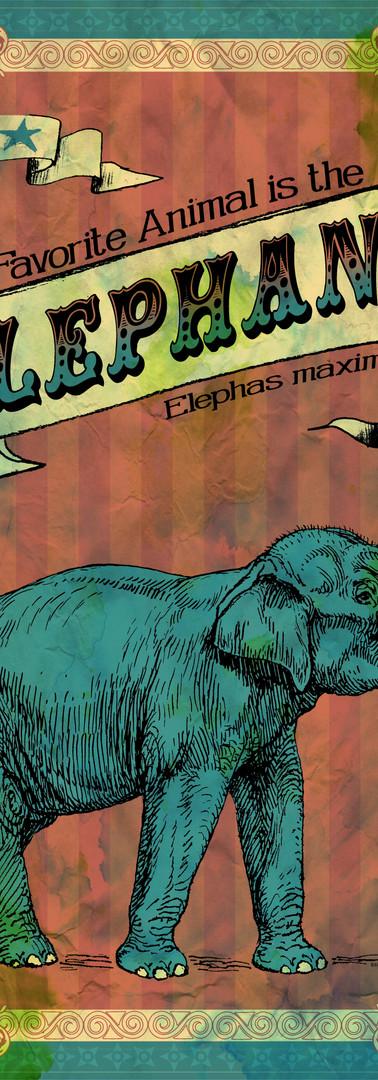 ELEPHANT Circus Poster