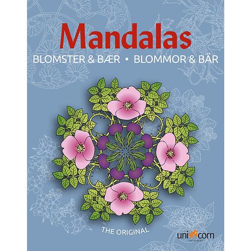 Malebog Mandalas, Blomster & Bær