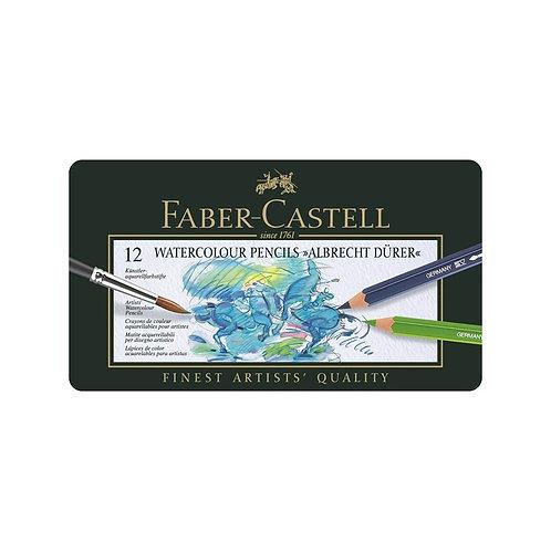 Faber-Castell Albrecht Dürer Akvarelblyanter, Metalæske med 12 ass.